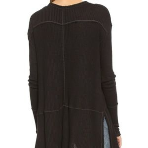 Free People Tops - Free People Sunset Park Thermal Tunic | Black